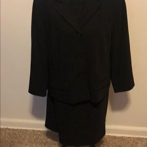 Black skirt and jacket suit